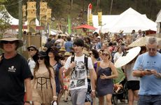 Crowds wander the lanes of the Woodford Folk Festival. Photo Vicki Wood / Caboolture News