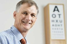 ONLY ONE: Dr Andrew Apel has pioneered a new technique which he uses in corneal transplants in Ipswich.