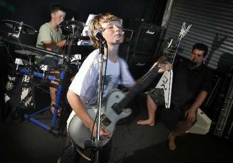 FOR THOSE ABOUT TO ROCK: Niel de Jong's sons, Henry, 12, and Lewis, 10 make up the band Alien Weaponry, which got into the Northland finals of the Smokefree Rockquest, and sparked Niel's idea for a heavy metal workshop.