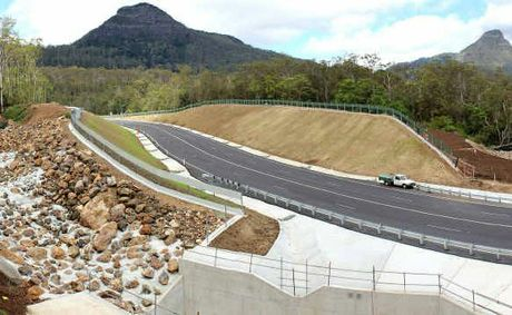 The new roadway and drainage at Clayton's Gully.