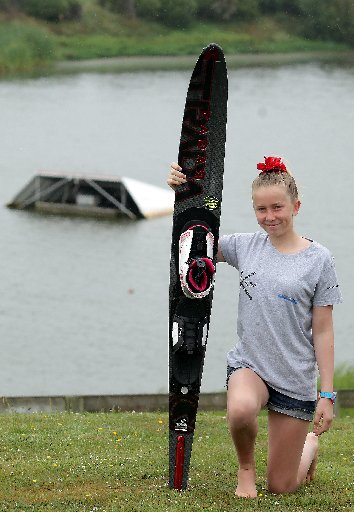 WATER SKI CHAMP: Lily Meade (12) who is set to compete in Australia, after the family fundraising effort is complete. PHOTO/STUART MUNRO