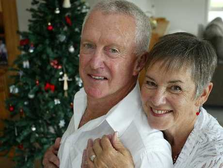 Dave Murray and Shirley Pidgeon stunned family and friends by exchanging vows on Christmas day.