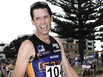 Michael Pugh was a clear winner in the men's Surfbreak sprint triathlon.
