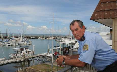 VMR senior radio operator John Rutland overlooking the Urangan Harbour.