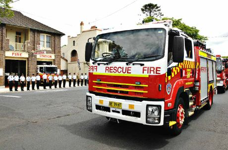 TRIBUTE: The Lismore Fire Brigade held a guard of honour at the funeral of Thomas Desmond Fairfull (pictured below), who passed away from prostate cancer.