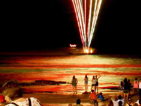 PARTY TIME: Fireworks will light the sky at Mooloolaba on New Year's Eve.
