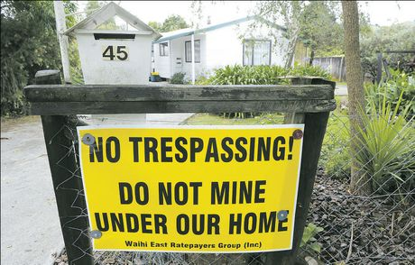 Some Waihi residents are saying no to more mining, after a new subsidence zone was established.