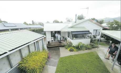 Roger and Val Wainhouse and neighbour Harold Nash are troubled at the impact of gold mining on their Waihi homes.