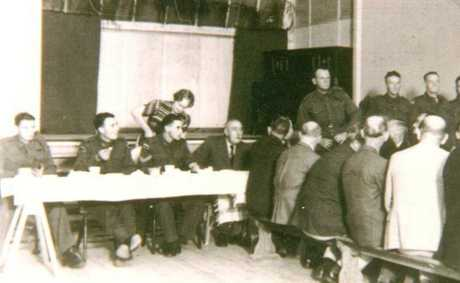 Enlistment day at the Soldier Hall, Roma on March 11, 1940 