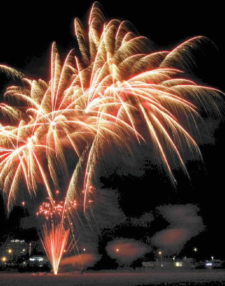LIGHT SHOW: Fireworks from 8 tonight at North Ipswich Reserve is the perfect way to ring-in the New Year.