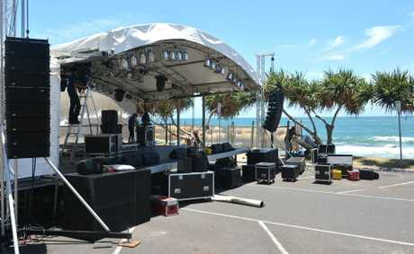 Mooloolaba gets ready for the New Year's Eve celebration.