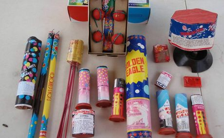 A cache of illegal fireworks was handed in by a North Toowoomba resident.