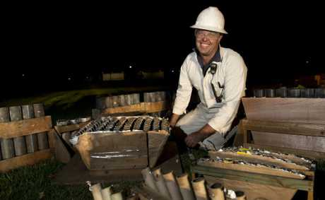 Lindsey Lack, pyrotechnician, responsible for New Year&#39;s Eve fireworks. 