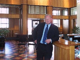 HERITAGE: Pat Benson in the Napier Daily Telegraph building after its restoration was recognised with the Art Deco Trust&#39;s Supreme Award 10 years ago. Now that restoration and a range of other achievements have been recognised with a QSM in the New Year Honours.
