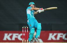 Chris Lynn of the Heat bats during the Big Bash League match between the Sydney Thunder and the Brisbane Heat at ANZ Stadium on December 28, 2012 in Sydney, Australia.