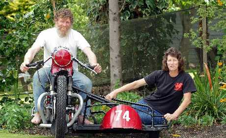 BACK IN THE SADDLE: Classic sidecar team Will Williamson and Julie Loveridge won the Classic Series this year and came fourth overall at the Classic Sidecars pre-1963 at Cemetery Circuit last Wednesday.PHOTOS/STUART MUNRO