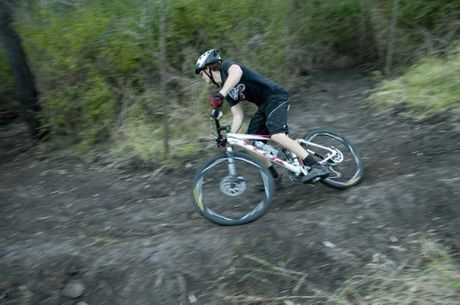 RANGE RIDE: Toowoomba Mountain Bike Club member Kyle Briskey hits the track.