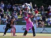 The Northern Knights scored a remarkable victory over the Wellington Firebirds in glorious conditions at the Bay Oval, Mount Maunganui, on New Year's Day.