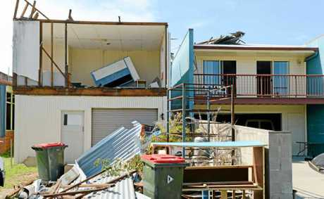 STORM DAMAGE: Property damage as a result of November's storm which devastated parts of Woodburn.