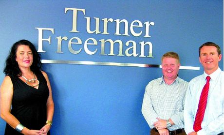 Considered move: Hayley Donnelly and Jason O'Meara of Savills Sunshine Coast with Wayne McStay, right, of Turner Freeman Lawyers