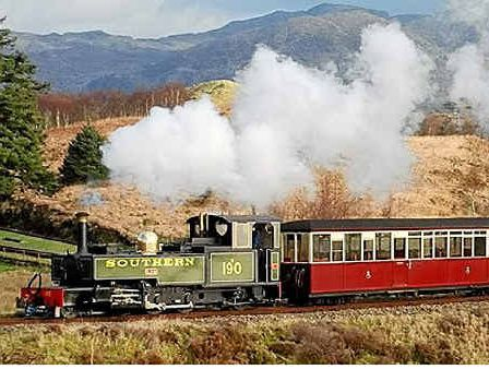 The Ffestiniog Railway Little Train in spectacular Snowdonia National Park.