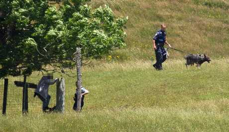 MAN HUNT: Police rounded up three people after they fled a Westbrook farm on Monday.