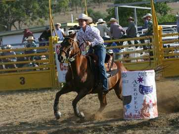 Action from the Goomeri New Years Eve Show Rodeo