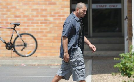 Matthew Norris Waterton leaves the Hervey Bay watchhouse after being granted bail. He's accused of stabbing his brother with an ornamental sword on New Years Day.