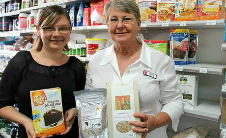 Kim Schelbach and Susan Needer with a range of health products on offer at Go Vita Warwick.