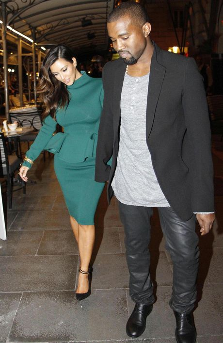 Kim Kardashian and Kanye West in Rome.