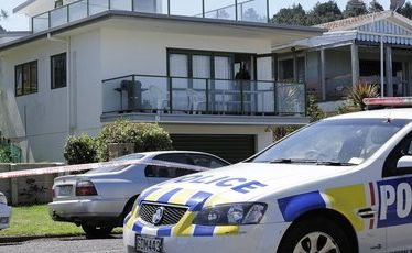 The Waihi Beach property at which a man was stabbed and critically injured.