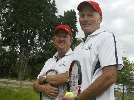 TITLE CONTENDERS: Katikati tennis players Steve Bowen (left) and Peter O'Dea will be in action at this week's three-day seniors event.