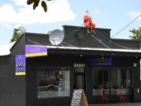 GONE: Santa is still missing from his perch atop Whangarei&#39;s Sabai Thai Restaurant after being stolen last week.