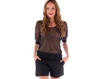 Lennox empire Jeannie Top, $169, Empire shorts in black and linen, $239.