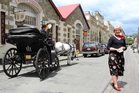 BUSIEST TIME: Whitestone Civic Trust heritage co-ordinator Faye Ormandy says Oamaru's Victorian Precinct is the busiest it has ever been. PHOTO/REBECCA RYAN