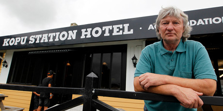 Guy Robinson, Owner of the Road House Bar and Cafe has lost a lot of business since the new bridge opened and traffic no longer go past.