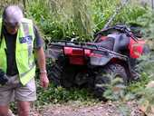 "Screams and hysterical cries for help led Waimarama residents to a ""scene of carnage"" after an alcohol-fuelled quad bike accident left a 6-year-old girl with critical head injuries."