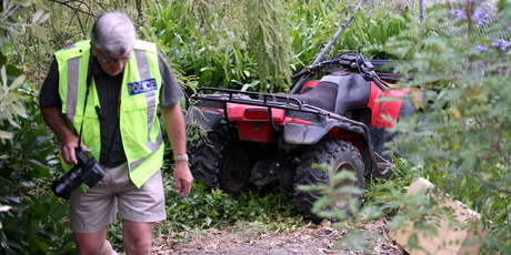 The scene following the quad bike crash. FILE