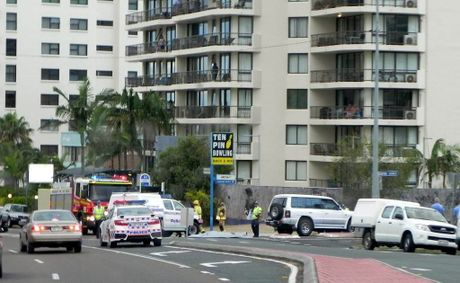 Police and fire crews were at the scene of a fatal accident at Mooloolaba on Saturday night.