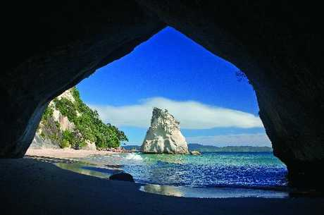NATURAL WONDER: The spectacular arch at Cathedral Cove.
