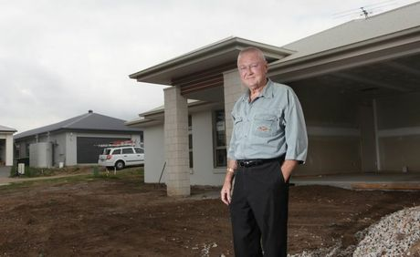 John Keen from the Village at Durack speaking about the $15,000 first homeowners grant for new houses. Photo: Inga Williams / The Satellite