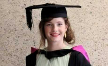 Jessica Byrne graduated with a Bachelor of Music from QUT in Brisbane on December 10 last year.