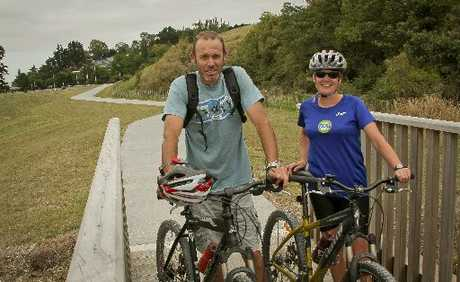 SCENIC ADVENTURE: Dave and Gill Mitchell, Greenmeadows, are regular users of the new section of the Water Ride track, a 2km pathway from Prebensen Drive, near Park Island, to Ahuriri, Napier.