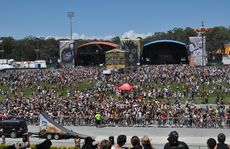 Large crowds at the 2011 Big Day Out at Gold Coast Parklands.