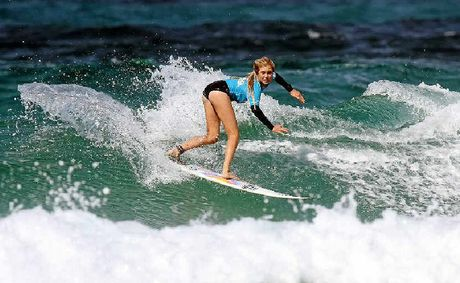 THOSE in the know reckon Moffat Beach's Laura Poncini – given the right wave conditions – has the talent to give established professionals a run for their money.