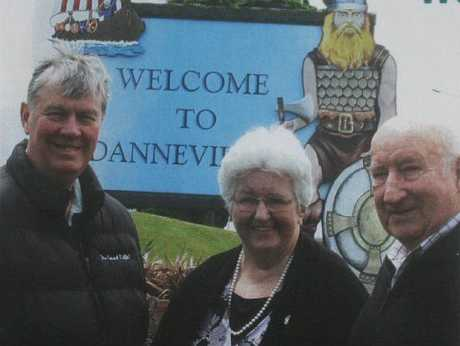 PLANNING: Looking forward to Dannevirke's Scandinavian Festival in February, from left, Tararua Mayor Roly Ellis (left), Jean Thompson-Church and Tony Church of the organising committee.PHOTO/IAN McFARLANE DAN13003