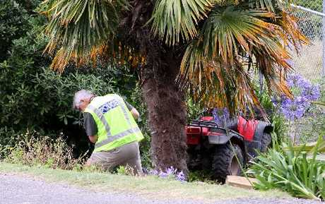 CRASH: The scene on Okaihau Rd, Waimarama, after a quad bike left the road. PHOTO/PAUL TAYLOR HBT130301-01