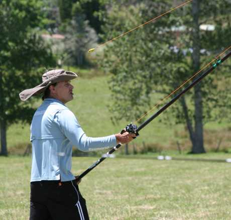 READY, AIM, FIRE: Kaitaia GP Ian Smit takes part in the Kaitaia regionals of the NZACA (New Zealand Angling and Casting Association) tackle tactics tournament on Saturday.