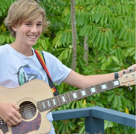 Talented 12-year-old Oskar Campbell of Mapleton is on his way to a musical future.