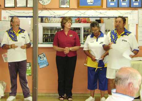 VET WINNERS: At the prizegiving of the veteran pairs at Kaitaia Combined last week were Steff Hildreth, Raewyn Taaffe, Awhi Ansley and Cedric Campbell.